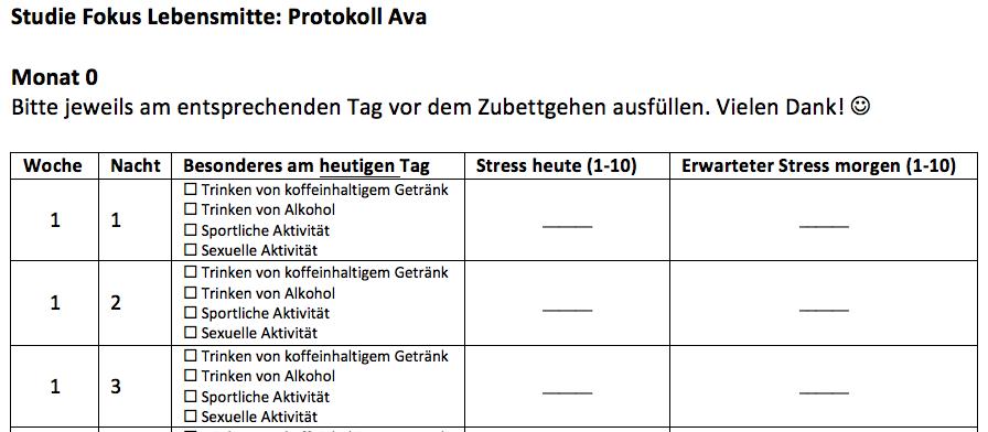UZH - Klinische Psychologie und Psychotherapie - Anleitung AVA