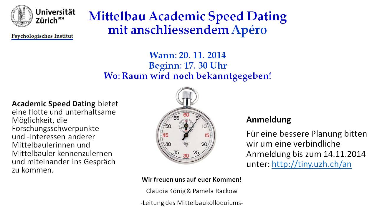 Uzh speed dating